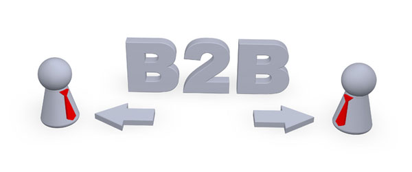 b2b - business-to-business illustration