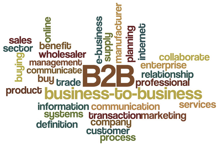 business-to-business word cloud